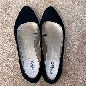 Charlotte Russe Black Pointed Flats
